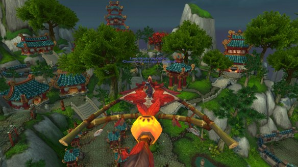 Gorgeous Picture of Pandaria  from up high!